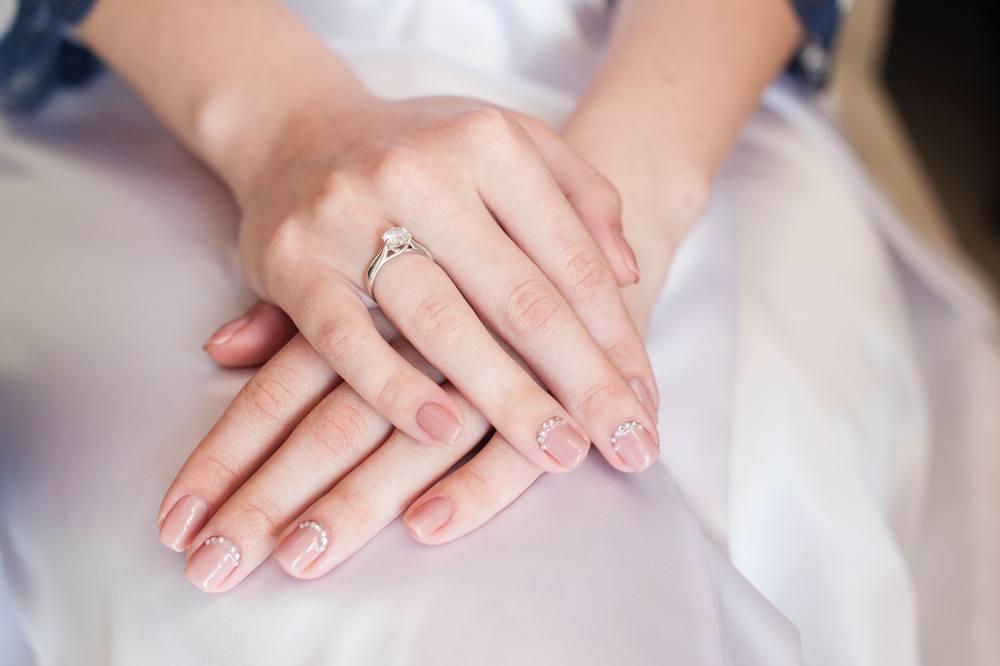 unhas de casamento